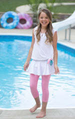 Load image into Gallery viewer, Quinn Skirt/Legging Set - Pink/White