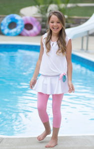 Quinn Skirt/Legging Set - Pink/White