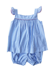 Sally Swing Set - Blue Gingham