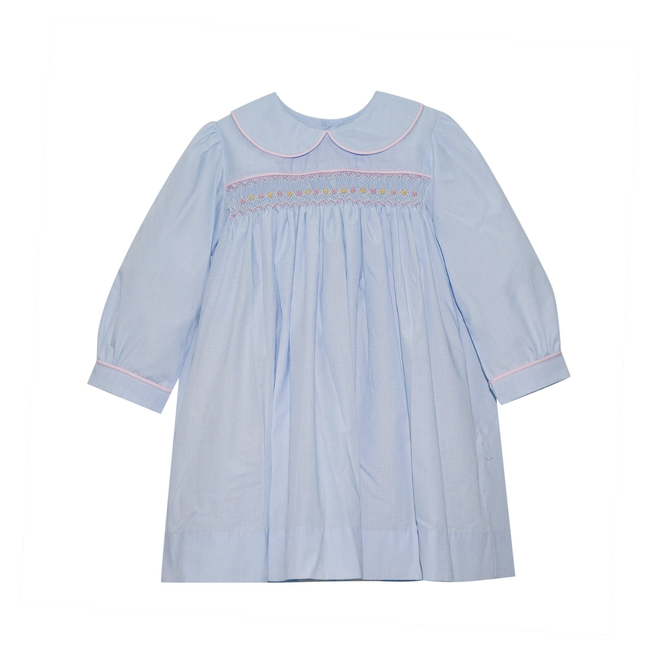 Memory Making Dress - Blue Microstripe