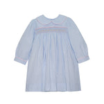 Load image into Gallery viewer, Memory Making Dress - Blue Microstripe