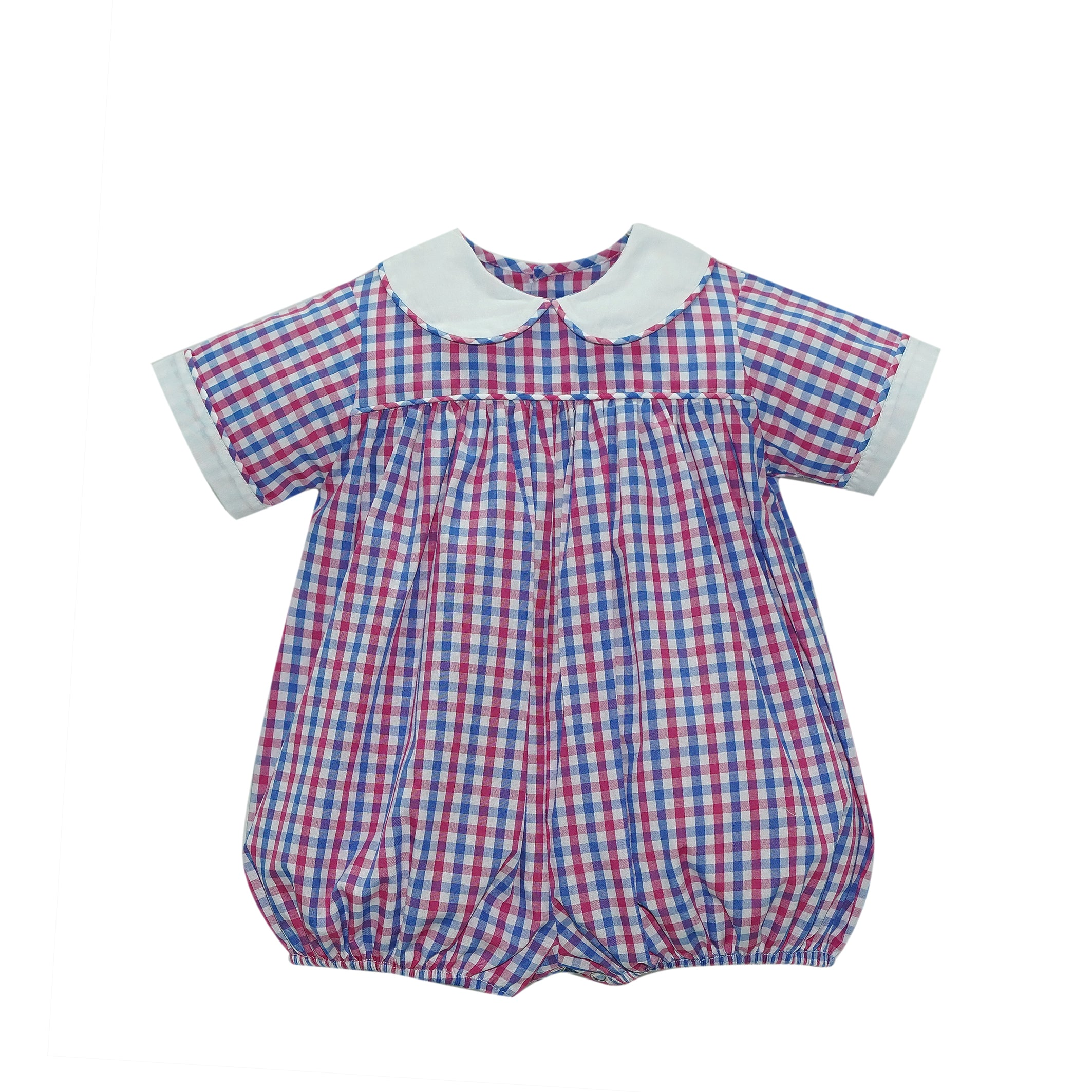 Covington Bubble - Pink/Blue Plaid