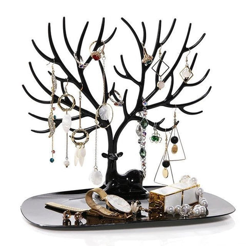 Deer Tree Shaped Jewellery Display Holder Earring Necklace Holder Organiser