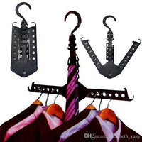 Plastic Multiuse Space Saving Hanger Set Of 2