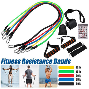 5 Tubes Fitness Resistance Bands With Handles