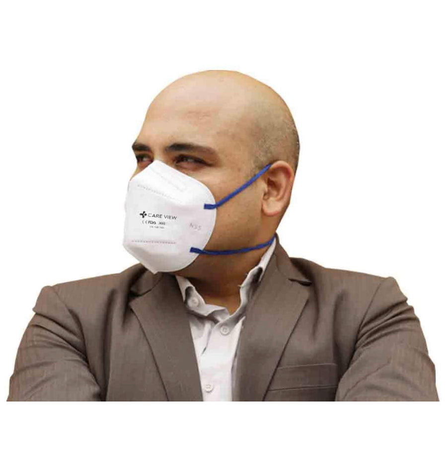 Careview Nonwoven Fabric Reuseable Face Mask (White, Without Valve, Pack of 3) for Unisex