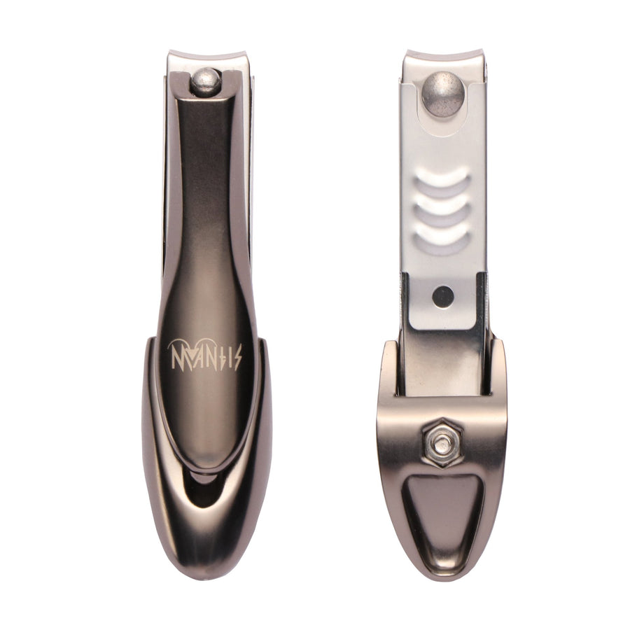 MANTIS Heavy Duty Deluxe Nail Clippers with Catcher Japanese 420j2 Stainless Steel Sharp and Durable Nail Trimmer Bionic Design