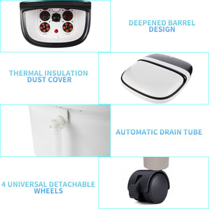MASAG A30 Foot Spa Bath Massager with Touch LCD Control Panel, Deepen Design, Motorized Rollers, Temperature & Timer Control, Oxygen Bubbles with Infrared Lights, All In One