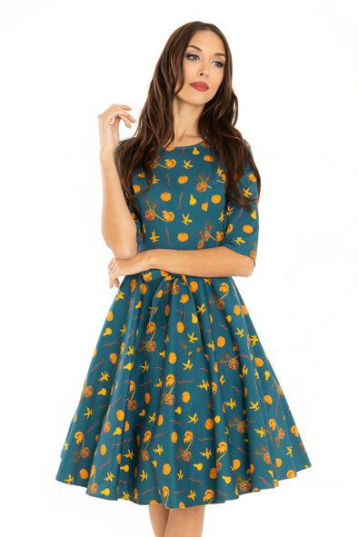 Squirrel Autumn Cotton Dress