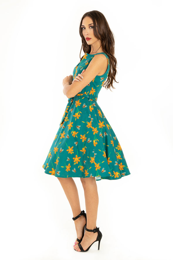 Bee & Tiger Lily Knee Length Dress