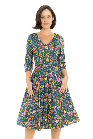 Wild Flowers Long Cotton Dress