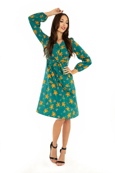 Bee & Tiger Lily Front Pocket Cotton Dress