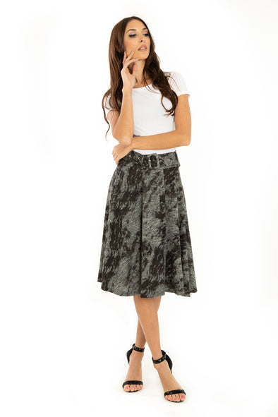 Burn Out Knit Skirt