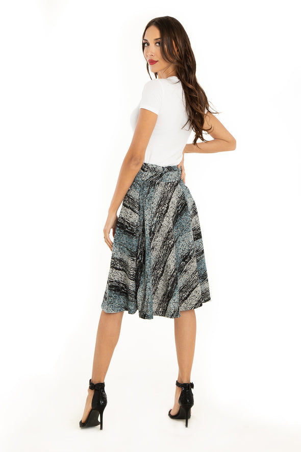 Distress Grunge Knit Skirt