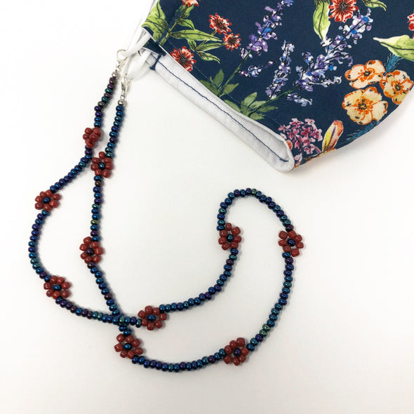 Wild Flowers Face Mask & Mask Chain Set