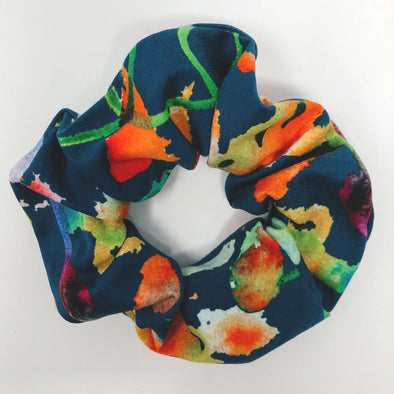 Watercolor Abstract Scrunchie
