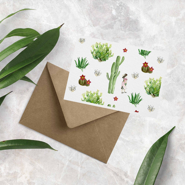 Cactus & Plant Collection Greeting Card