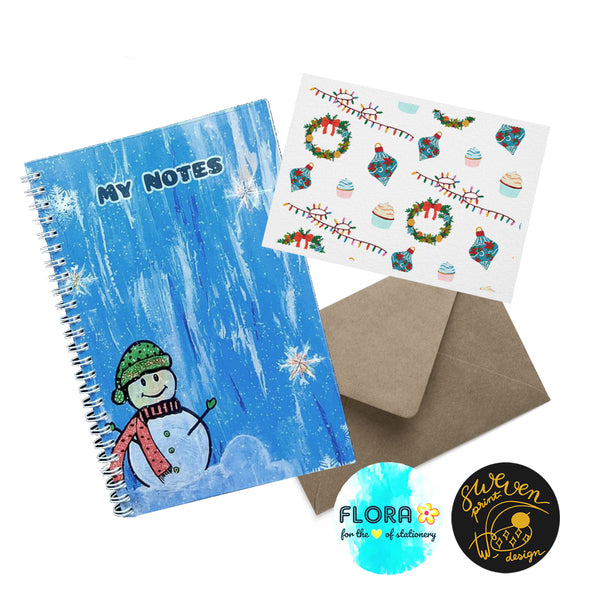 Notebook & Greeting Card Set- Collaborated with Flora Stationery