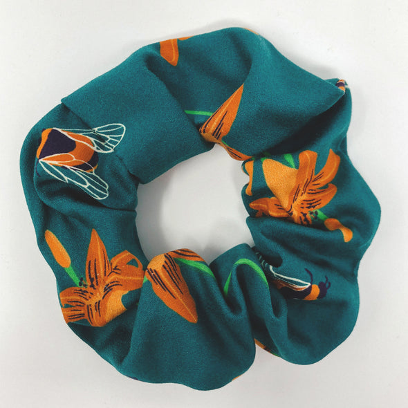 Bee & Tiger Lily Scrunchie