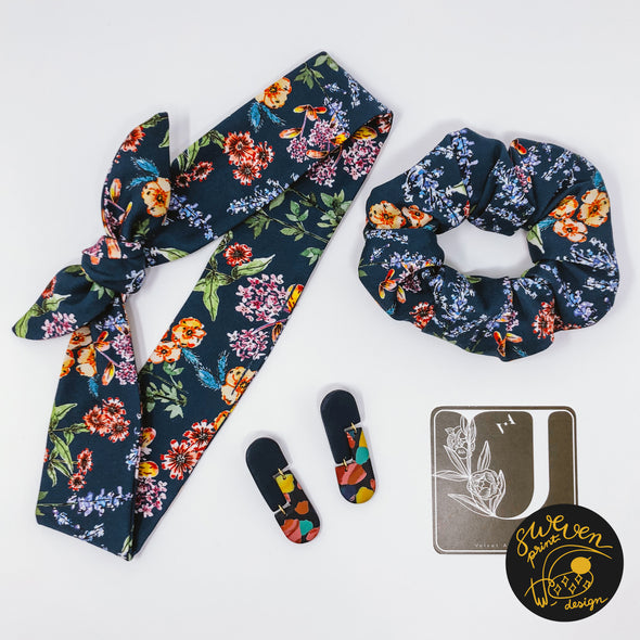 Wild Flower Headband, Scrunchie & Earring Set- Collaborated With Velvet Andalusia