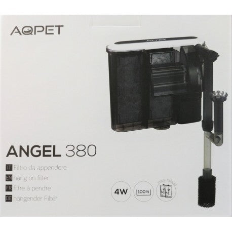 AQ PET ANGEL 380 filtro a zaino per acquari