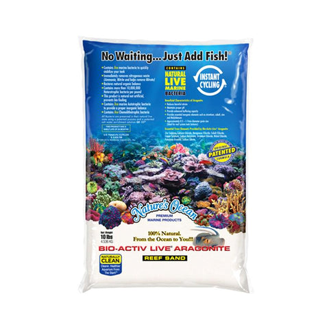 NATURAL WHITE Sabbia Viva Premium LIVE Aragonite Sand for Aquariums 4.5Kg