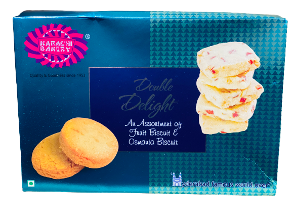 Karachi Double Delight Biscuits (Fruit and Osmania)
