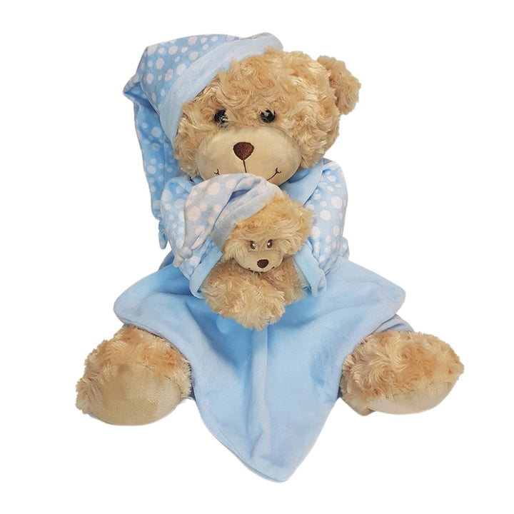 Bedtime Bear With Blue Comforter