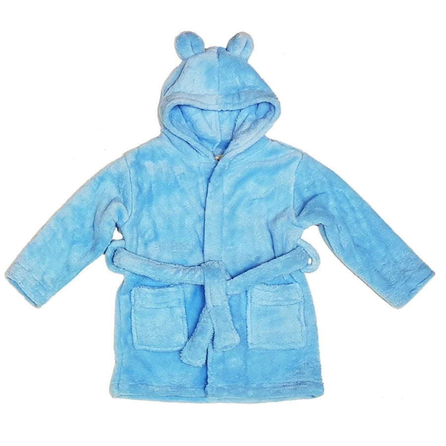 Childs Personalised Robe With Bunny Ears - Blue