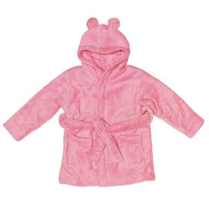 Childs Personalised Robe With Bunny Ears - Pink