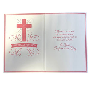 Girls Confirmation Card - Inside