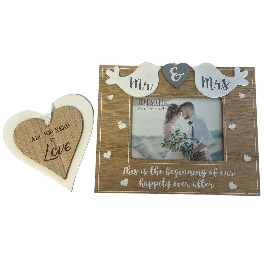 Mr & Mrs Personalised Gift Hamper - Frame & Sign