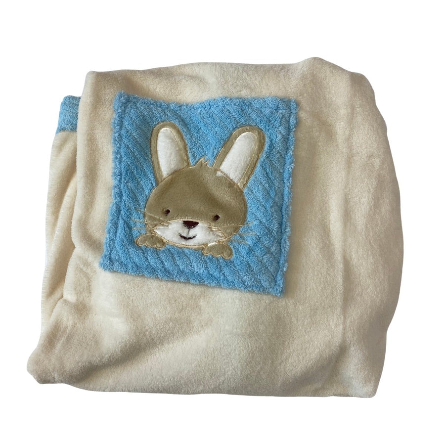 Personalised Baby Blue Bunny Blanket