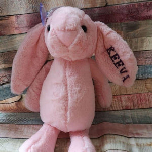 Pink Personalised Bunny - Stitched Up Gifts