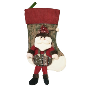 Personalised 3D Christmas Stocking - Santa or Snowman Style
