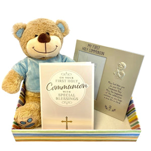 Personalised Communion Hamper - Blue