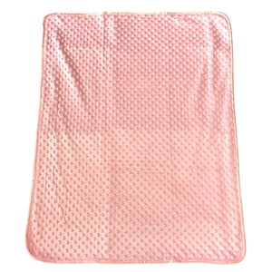 Personalised Dimple Super Soft Blanket - Pink