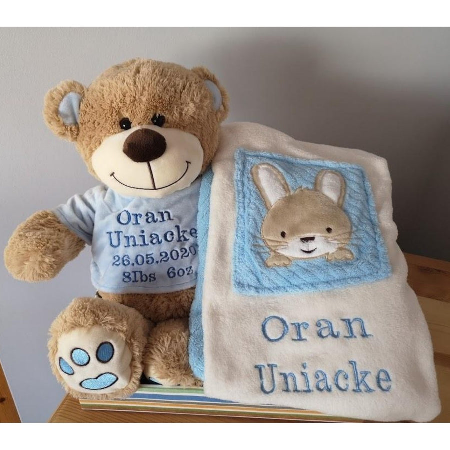 Personalised Luxury Blanket & Teddy Hamper