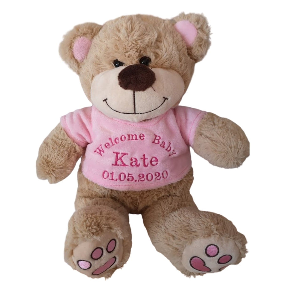Personalised Teddies Pink - Stitched Up Gifts
