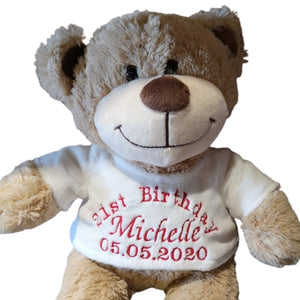 Personalised Teddy - Happy Birthday