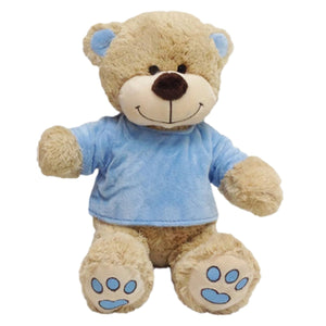 Personalised Teddy Bear - Blue T-Shirt