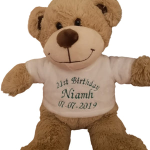 Personalised Teddy Neutral - Stitched Up Gifts