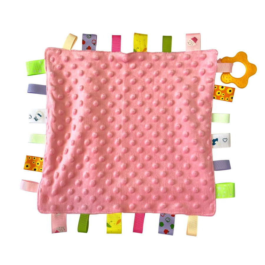 Pink Personalised Baby Comforter