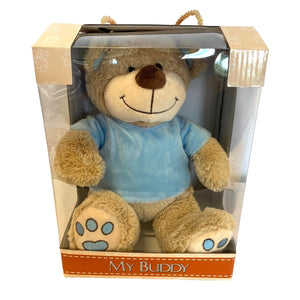 Sibling Gift - Personalised Teddy Bear (Medium) - Pink, Blue or White
