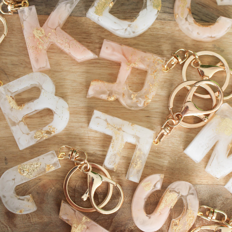 Custom Resin Keychain Letter