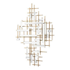 Image of Uttermost Apollo Gold & Mirrored Wall Art