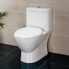 Elongated Toilet with Dual Flush