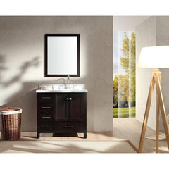 Vanity Set Single Right Offset Sink
