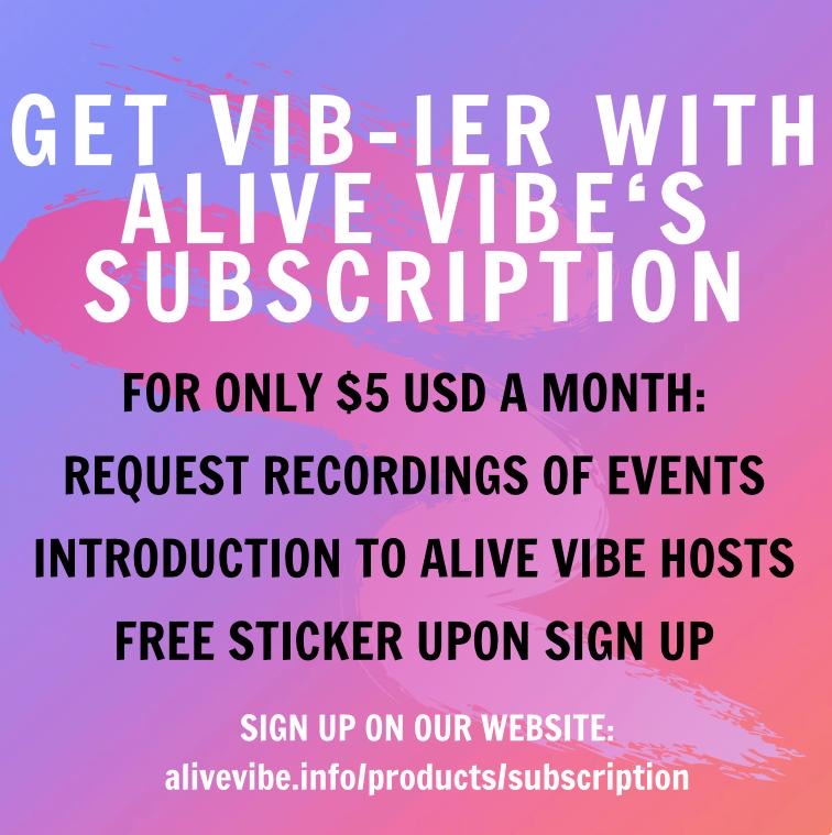 Alive Vibe Monthly Subscription