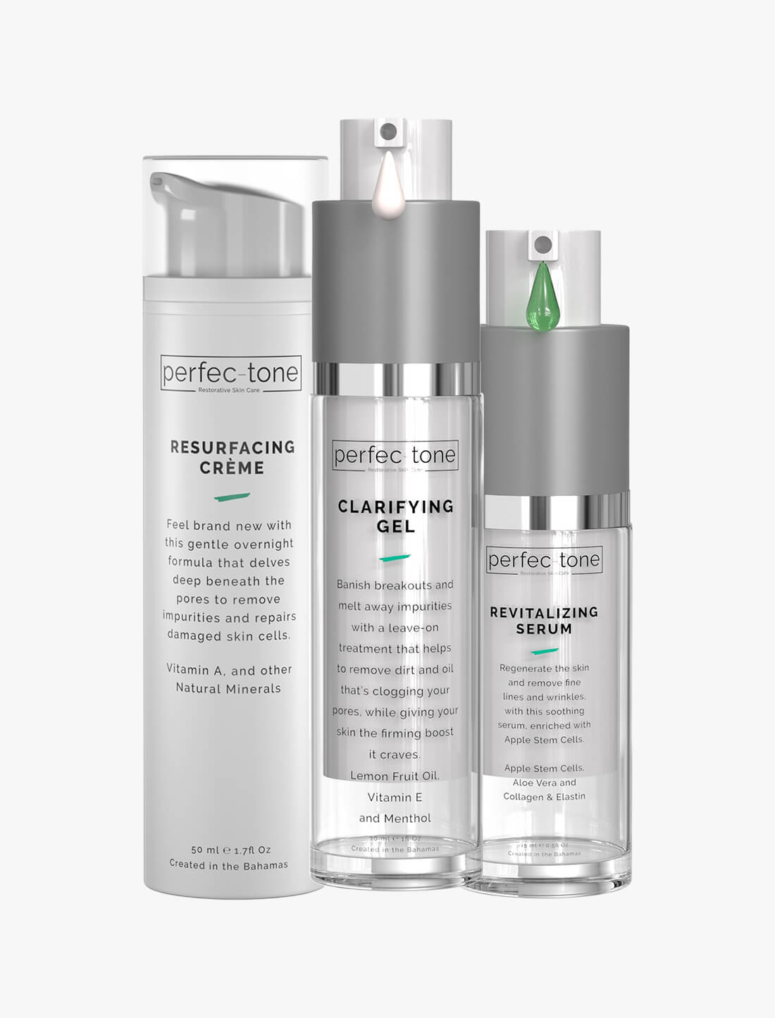 Clear & Spotless Set - Clarifying Gel, Resurfacing Crème, & Revitalizing Serum
